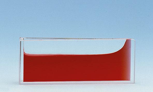 Keilförmiges Glasgefäß