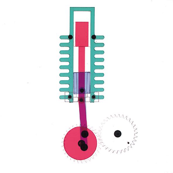 Stirlingmotor, Modell für OHP