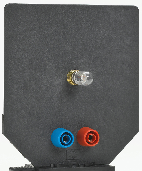 E10-Fassung auf Blendschirm