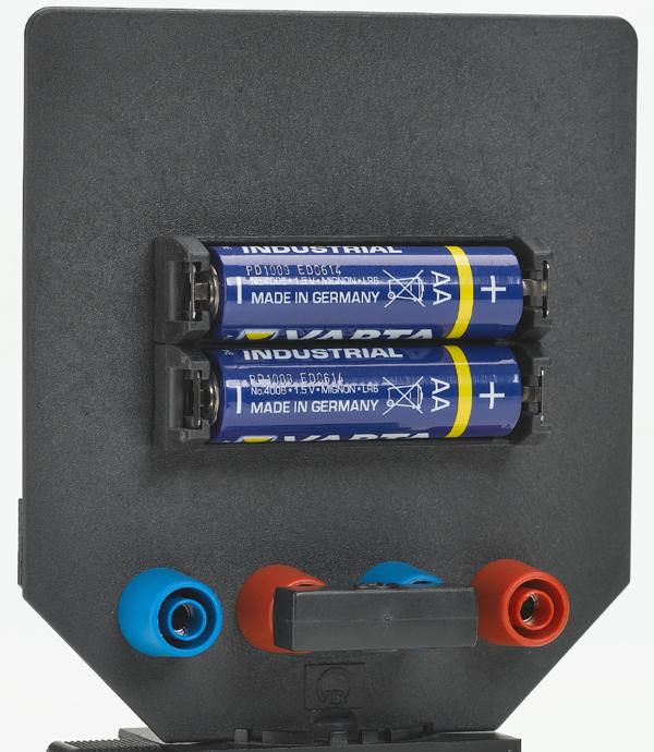 Batteriehalter auf Blendschirm