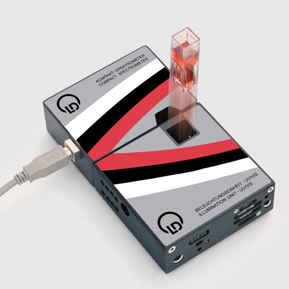 Kompakt-UV-Spektrometer, komplett