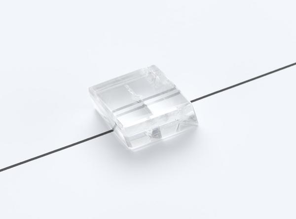 Kalzit-Kristall, doppelbrechend