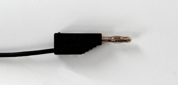 Experimentierkabel 19 A, 25 cm, schwarz