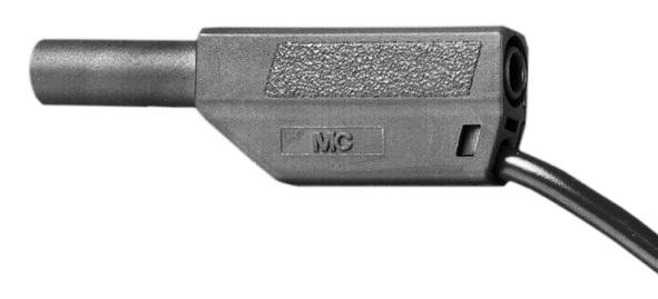 Sicherheits-Experimentierkabel 10 cm, schwarz