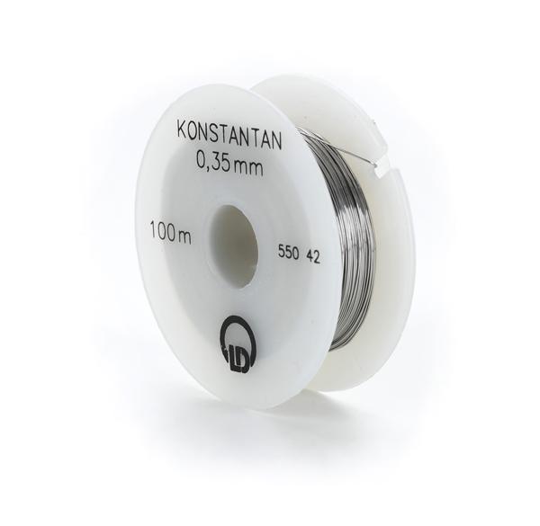 Konstantandraht (Widerstandsdraht), 0,35 mm Ø, 100 m