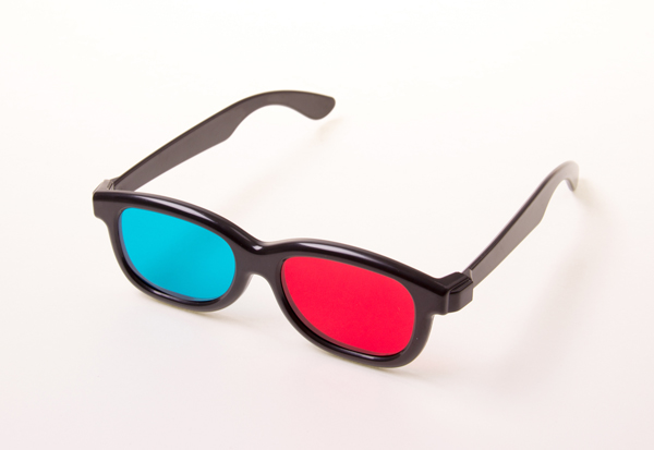 Rot-Cyan-Brille (3D)