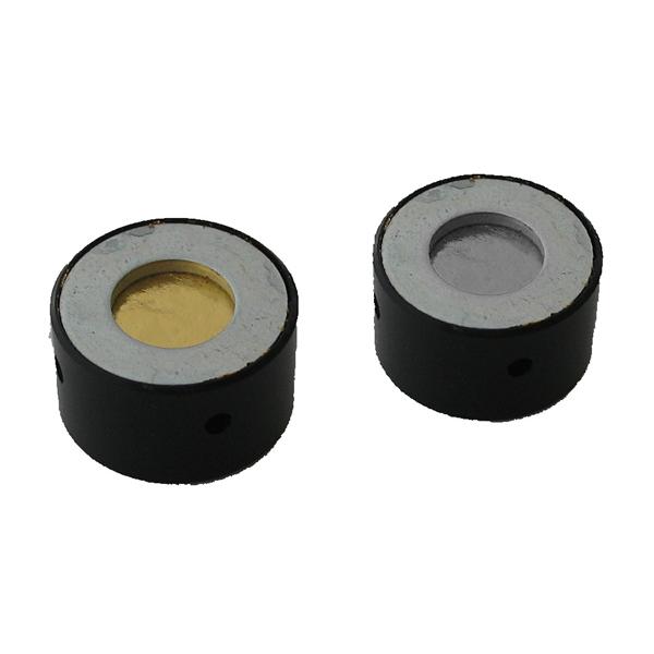 Gold und Aluminium Folie in Fassung