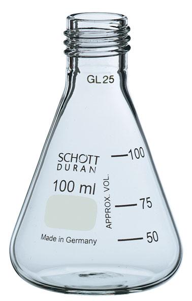 Erlenmeyerkolben DURAN, 100 ml, GL 25