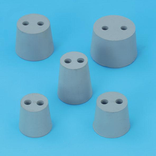 Gummistopfen 2 Löcher 7 mm, 25...31 mm Ø