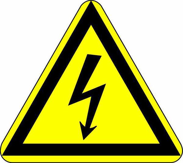 Warnschild: Elektrische Spannung