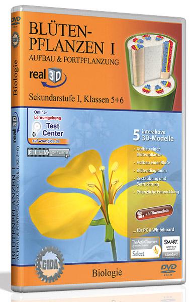 DVD: Blütenpflanzen I - Aufbau und Fortpflanzung - Software real3D
