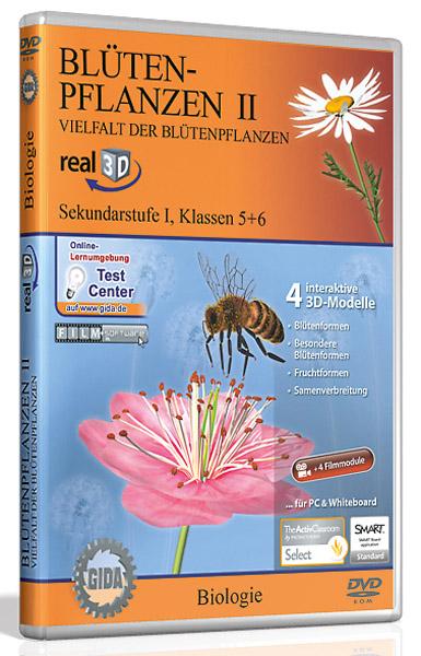 DVD: Blütenpflanzen II - Vielfalt der Blütenpflanzen - Software real3D