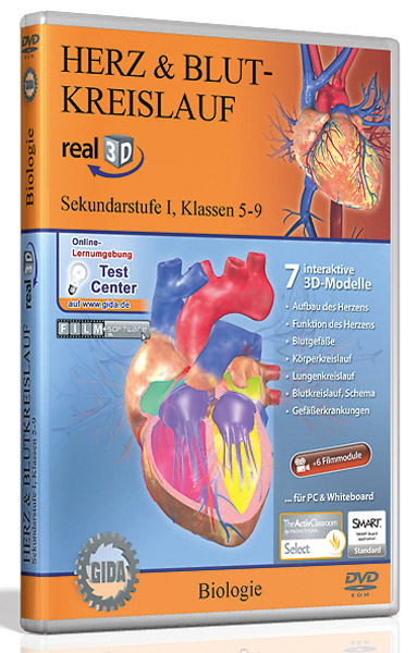 DVD: Herz & Blutkreislauf - Software real3D