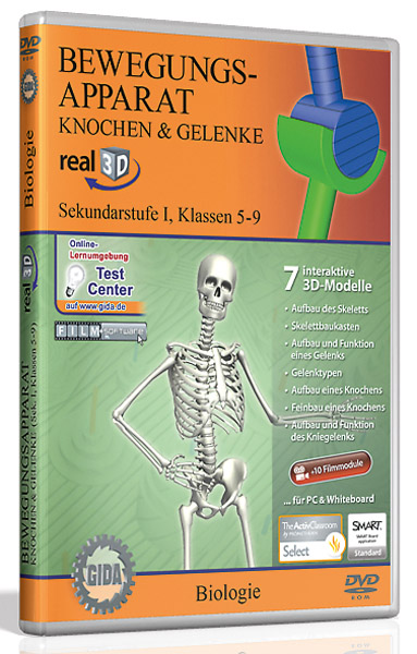 DVD: Bewegungsapparat - Knochen & Gelenke - Software real3D
