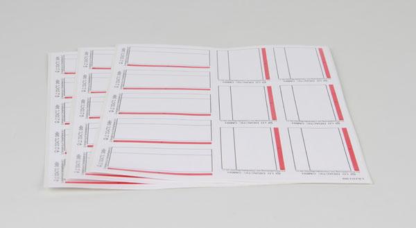 Blanko Etiketten 90 x 54 mm, Satz 33