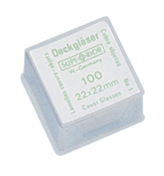 Deckgläser, 22 mm x 22 mm, Satz 100 Stück