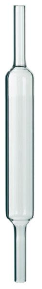 Reaktionsrohr Quarzglas, 220 x 25 mm Ø, zur Butanverbrennung