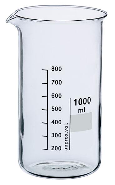 Becherglas Boro 3.3, 2000 ml, hF