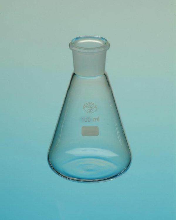 Erlenmeyerkolben Boro 3.3, 100 ml, eH, NS 19/26