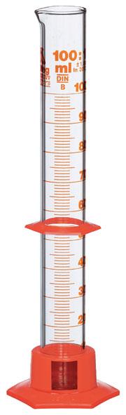 Messzylinder 100 ml, Kunststofffuß
