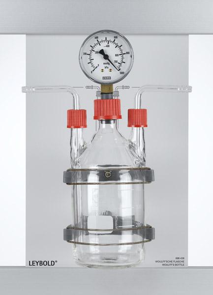 Woulff'sche Flasche mit Manometer, CPS
