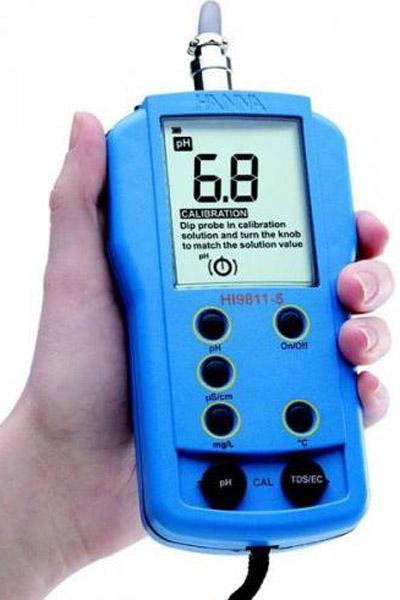 Kombimessgerät für pH, LF, TDS, T