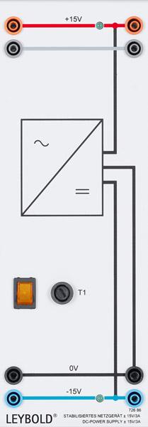 Stabilisiertes Netzgerät ±15 V/3 A