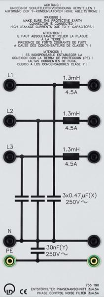 Entstörfilter Phasenanschnitt 3 x 4,5 A