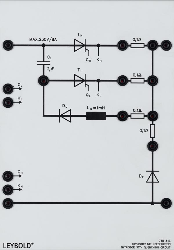 Thyristor mit Löschkreis 230 V/8 A