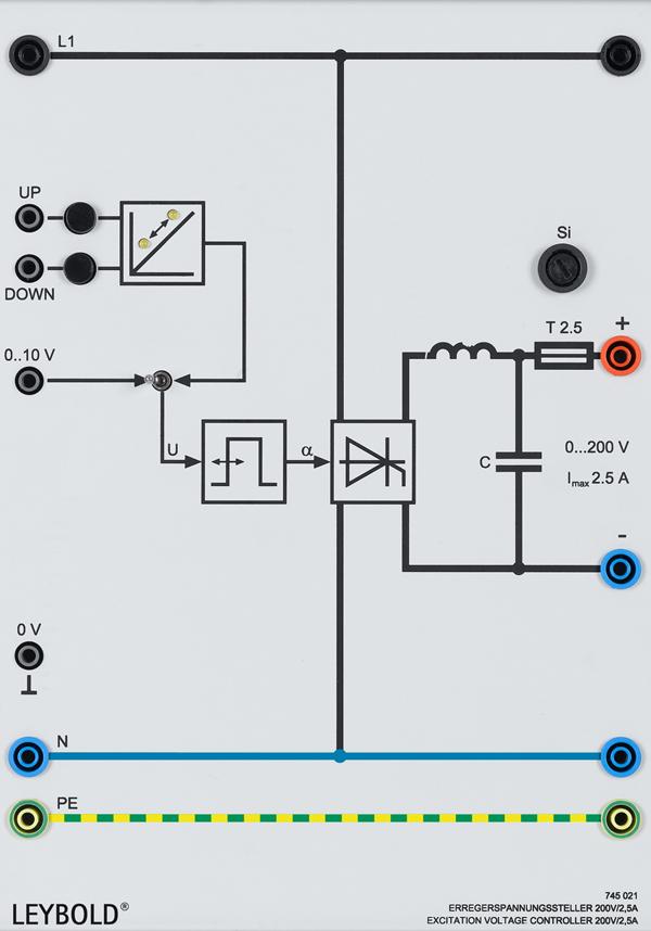 Erregerspannungssteller 200 V/2,5 A