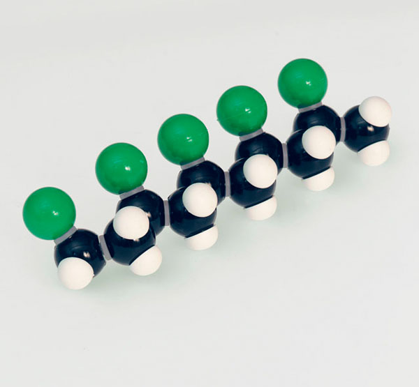 Polyvinylchlorid (PVC), Molekülbaukasten