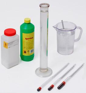Bestimmung der Dichte einer Flüssigkeit - Messung mit einem Aräometer