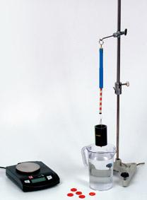 Unabhängigkeit der Auftriebskraft von der Masse des Körpers - Messung mit Präzisionskraftmesser
