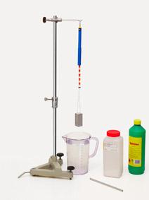 Abhängigkeit der Auftriebskraft von der Art der Flüssigkeit - Messung mit Präzisionskraftmesser