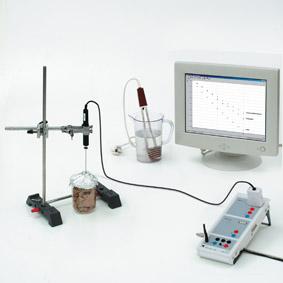 Abhängigkeit der Wärmedämmung vom Stoff – Messung mit Sensor-CASSY