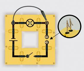 Schmelzsicherung - Aufbau mit Leiterbausteinen