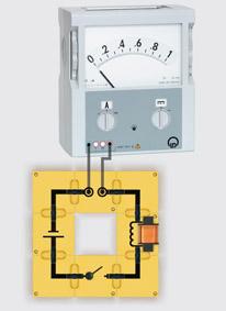 Modell eines Elektromagneten - Aufbau mit Leiterbausteinen