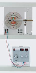 Magnetfeld eines elektromagnetischen Rotors mit Schleifringen