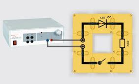 Leuchtdioden im Gleichstromkreis - Aufbau mit Leiterbausteinen