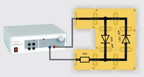 Polprüfer mit Leuchtdioden - Aufbau mit Leiterbausteinen