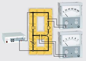 Steuerkennlinie eines Transistors - Aufbau mit Leiterbausteinen