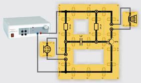 Einstufiger Mikrofonverstärker - Aufbau mit Leiterbausteinen