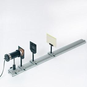 Nachweis von Infrarotstrahlung - Aufbau mit einem Zinksulfidschirm