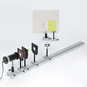 Infrarotstrahlung im kontinuierlichem Spektrum - Aufbau mit einem Zinksulfidschirm