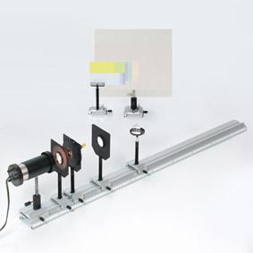 Ultraviolette Strahlung im kontinuierlichem Spektrum - Aufbau mit einem Ultraviolett-Leuchtschirm