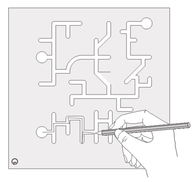 Fingerlabyrinth - Lernen mit geschlossenen Augen