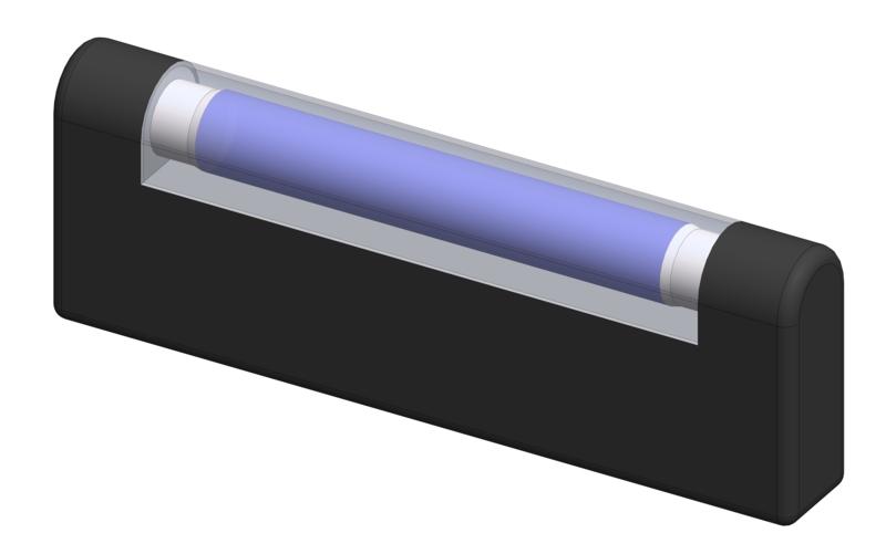 Simulation gründlicher Handhygiene mit UV-Strahlung