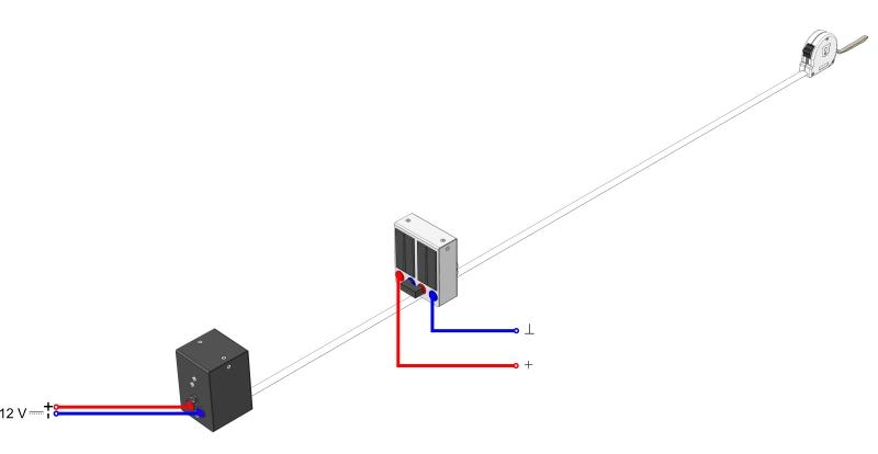 Untersuchung an einem Solarmodul in Abhängigkeit vom Abstand