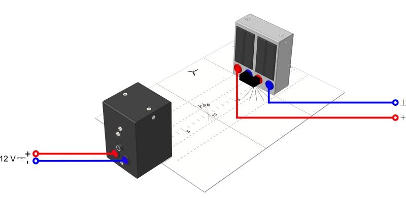 Untersuchung an einem Solarmodul in Abhängigkeit vom Einstrahlwinkel