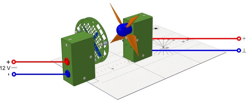 Messung der Spannung an einem Windrad
